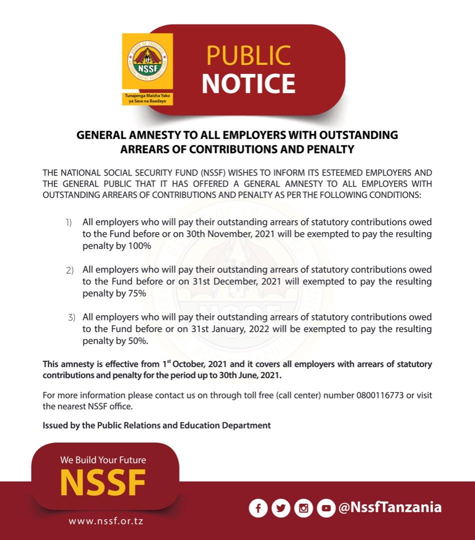 NSSF publi notice
